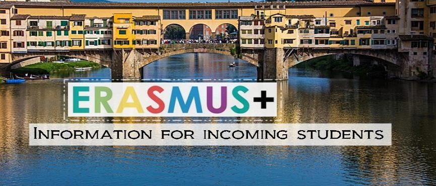 Erasmus information for incoming students
